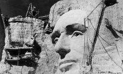 Mount Rushmore Construction – Abraham Lincoln