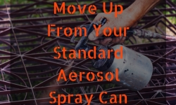 Move Up From Your Standard Aerosol Spray Can by Using a Paint Sprayer