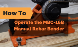 How To Properly Operate the MBC-16B Manual Rebar Bender