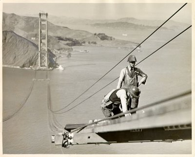 Construction Workers on the Golden Gate Bridge - Construction Photo of the Week