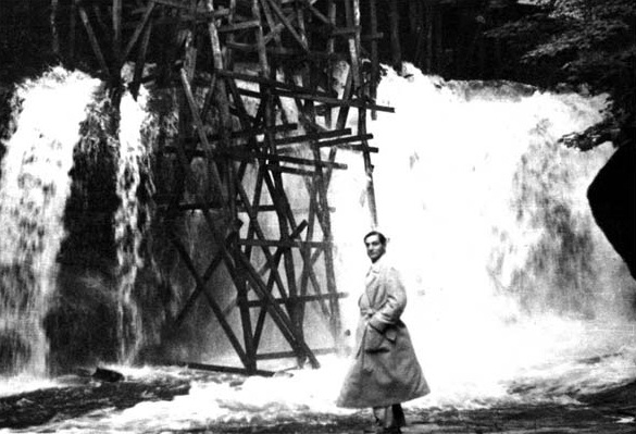 Photo of the Week - Edgar J. Kaufmann, Sr. Overseeing the Construction of Fallingwater