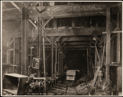 New York City Subway Construction 1921