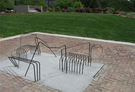 Bench Made out of Rebar - Rebar Benders