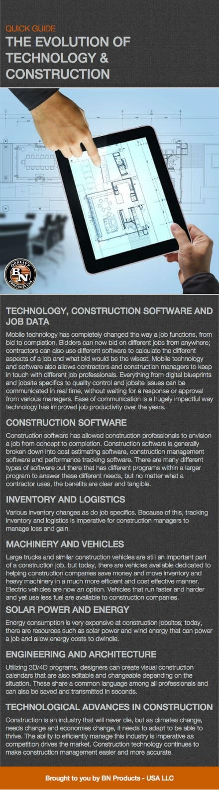 evolution of technology & construction