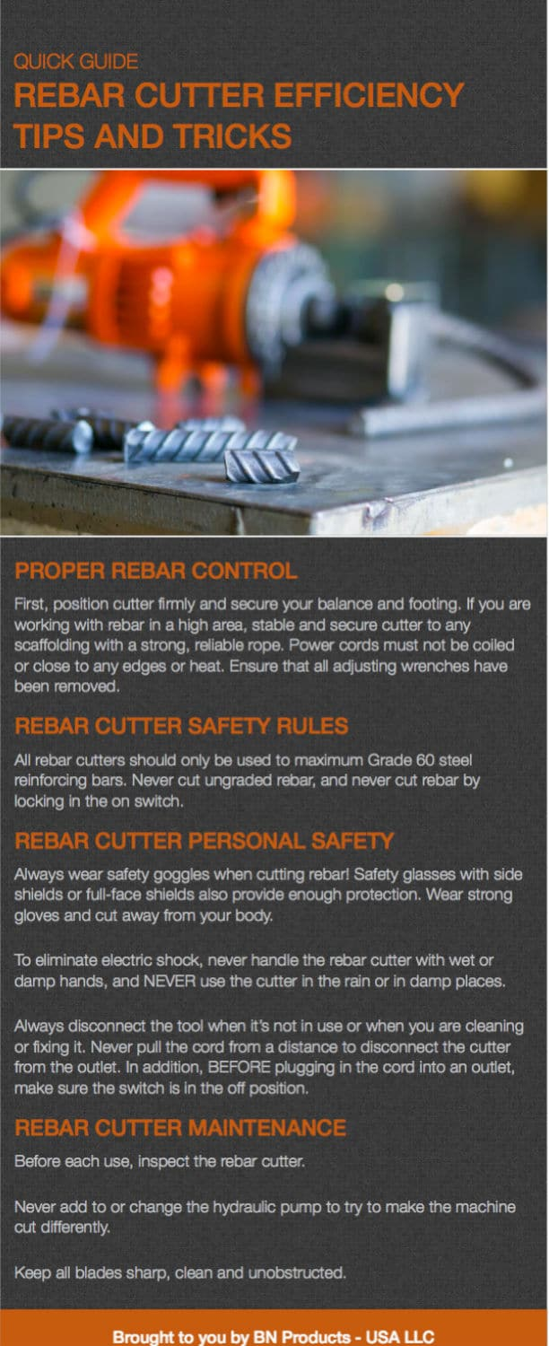 rebar cutter efficiency