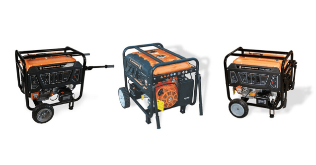 image of three different generators sold by BN Products